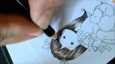 Coloring hair with Faber Castell pencils
