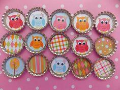 Owl party favors glitter magnets set of 8 goodie bag filler