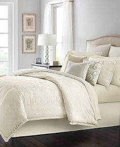 Martha Stewart Collection Juliette Ivory 14-Pc Comforter Sets - Bed in a Bag - Bed & Bath - Macy's