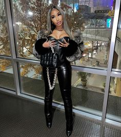 Sexy Outfits, Cute Outfits, Fashion Outfits, Leather Dresses, Leather Pants, Fashion Line, Girl Fashion, Marley Twist Hairstyles, Karin Jinsui