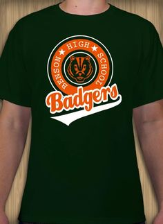 5df25d446 Badgers mascot t-shirt template. Personalize custom tees online. Shirt  Template, Tee