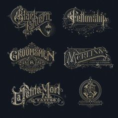 Traditional lettering logos Type Gang is part of Letter logo - Traditional lettering logos by victorkevruh⠀ lettering inspiration Typography Drawing, Typography Layout, Typography Letters, Lettering Design, Typography Poster, Vintage Logo, Vintage Typography, Vintage Labels, Vintage Fonts