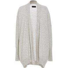 Nili Lotan Open Kimono Cashmere Cardigan ($625) ❤ liked on Polyvore featuring tops, cardigans, collar cardigan, relaxed fit tops, cashmere tops, cardigan top and kimono top