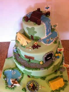 Cub Scout Cross Over Camping Cake All details are edible, except a few toothpicks and dowels. Fed about 100 cubs. Tigers start at the...