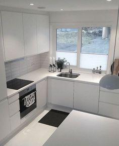 Modern Kitchen Room Design - Home Design Inspiration Kitchen Design Open, Kitchen Cabinet Design, Kitchen Layout, Interior Design Kitchen, Open Kitchen, Kitchen Modern, Kitchen Cabinets, Kitchen Small, Interior Modern
