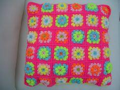 Crochet Cushion Cover by LillyBev on Etsy