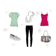 Cute Dinner Date Outfit, created by hbentsen on Polyvore