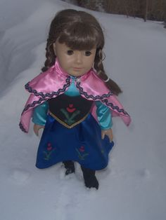 American Girl Doll Anna Gown Ensemble by DMJDesigner on Etsy