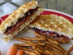 PB Waffle Sandwiches via @Amanda Carlisle (AFewShortCuts.com)