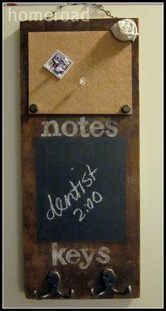 junk inspired memo board
