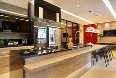 Cocinas de estilo moderno de Arquitetura e Interior #decoraciondecocinasmodernas