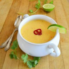 Recipe : Fresh Corn Soup with Chili and Lime