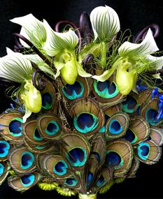 Bride's Bouquet #Peacock #Wedding