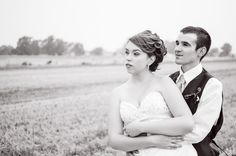 Black and white photo of two high school sweethearts on their wedding day - Tina Joiner Photography - A Colorado Courtship Blog