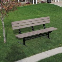 Enjoy the wonders of the outdoors with this In-Ground Mount Recycled Plastic Lumber 6 ft Bench