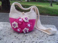 Como hacer Bolso tejido a crochet paso a paso parte 1/2 - YouTube