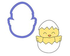 Chick in Egg Cookie Cutter - The Cookie Cutter Club cookie cutters are affordably priced and come in various sizes and cutting depths. These cookie cutters can be used to make decorated cookies using royal icing. Animal Cookie Cutters, Easter Cookie Cutters, Metal Cookie Cutters, Cookie Dough, Farm Cookies, No Egg Cookies, Easter Cookies, Holiday Cookies, Cookie Decorating