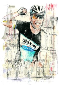 In the heat of the desert … Mark Cavendish is too fast by Horst Brozy Cycling Art, Road Cycling, Mark Cavendish, Bicycle Race, 3 Arts, Bike Art, Painting & Drawing, Illustration Art, Golfers