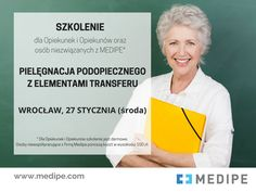 Podnieś swoje kwalifikacje - zapisz się na kurs dla Opiekunek i Opiekunów osób starszych.  Temat: Pielęgnacja podopiecznego z elementami transferu. Więcej informacji na stronie: http://medipe.pl/szkolenie-dla-opiekunek-i-opiekunow-piele…/