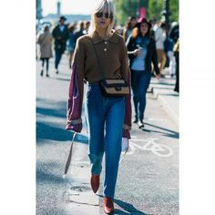 - A pointed toe style elongates the effect of straight leg denim.