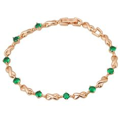 Find More Charm Bracelets Information about Free shipping Top Quality 18K gold plated green cubic zirconia Emerald & Topaz Bracelets & bangles fashion jewelry B249,High Quality jewelry glasses,China jewelry cristal Suppliers, Cheap jewelry mannequin from Dana Jewelry Co., Ltd. on Aliexpress.com