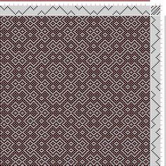 Hand Weaving Draft: Threading Draft from Divisional Profile, Tieup: Motif-On-Path Project, Draft #54458, Threading: Weber Kunst und Bild Buc...