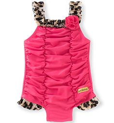 a089a99d277 Juicy Couture Baby Girls Swimsuit Hot Pink 18M     Click image to review  more