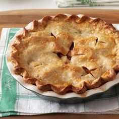 Mom's Maple-Apple Pie - Mom's apple pie might be a cliché, but others have tried and failed to rival my mom's recipe. My siblings and I panic when anyone else takes the holiday apple pie assignment and make sure Mom is making hers, too.