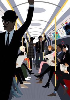 The Tube - from 'London Sketchbook' by Jason Brooks
