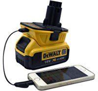 (USB Converter) DCA1820 Dewalt Adapter For Dewalt 18V 20V Batteries to 18Volt Slide Battery