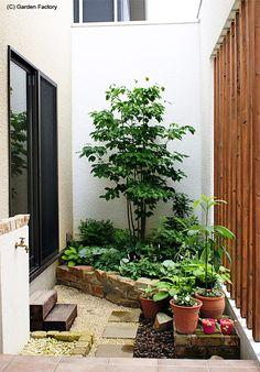 施工例78 Pocket Garden Small Spaces, Small Space Gardening, Small Gardens, Very Small Garden Ideas, Small Japanese Garden, Backyard Garden Design, Small Backyard Landscaping, Inside Garden, Interior Garden
