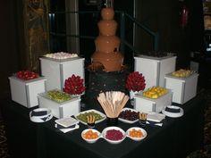 Fuente de #chocolate con #frutas frescas