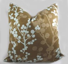 Decorative Pillow Cushion Cover  Accent Pillow  by kimoleydeco, $32.00
