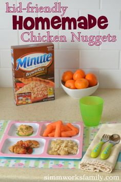Kid-Friendly Homemade Chicken Nuggets and Brown Rice #LoveEveryMinute