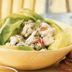 This easy Lump Crab Salad is great for a fresh and delicious summertime meal.Though it can be expensive, crabmeat is great for quick and delicious dinners. Substitute canned lump crabmeat for fresh, if you prefer, but avoid using regular canned crabmeat; the meat is too flaky for this dish. Rinse canned crabmeat for the best flavor.