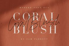 Ad: Coral Blush Font Duo by Sam Parrett on Explore a stunning typography pairing with Coral Blush; a carefully crafted and perfectly balanced set of elegant serif and realistic script Design Typography, Logo Design, Vector Design, Design Design, Branding Design, Bold Typography, Design Ideas, Script Typeface, Serif Font