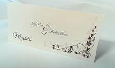 egyedi grafikus esküvői meghívó 062.1 Place Cards, Place Card Holders, Ticket Invitation