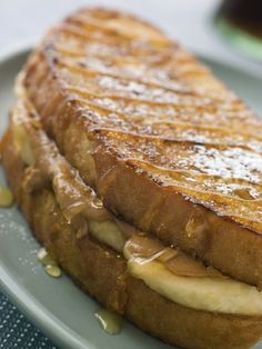 Grilled Peanut Butter and Banana Sandwich recipe. Perfect breakfast treat!