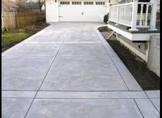 Want to do this for our driveway. Wait! That is our driveway! http://millcityconcrete.com/index.php/gallery