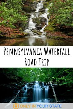 There are a variety of beautiful waterfalls in Pennsylvania. See some of the best on this scenic road trip. | Nature | Hiking | Pennsylvania Waterfalls | Family Friendly Day Trips | Road Trip Ideas | Summer Fun | Bushkill Falls Falling Water Architecture, Places To Travel, Places To See, Bushkill Falls, Camping In Pennsylvania, Waterfall Hikes, Beautiful Waterfalls, Vacation Spots, Vacation Ideas