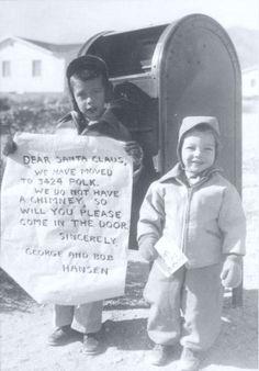 Letter to Santa - vintage Christmas photo