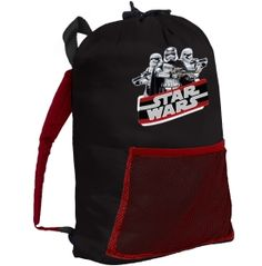 Packing for the next sleepover is easy with the exxel Outdoors® Youth Star Wars Slingpack! With a zippered closure system, this pack provides a no-hassle way for your youngster to carry their sleeping bag. A mesh pocket across the front allows quick storage of a flashlight or favorite stuffed animal. Your little one is sure to love toting this awesome Star Wars gear!