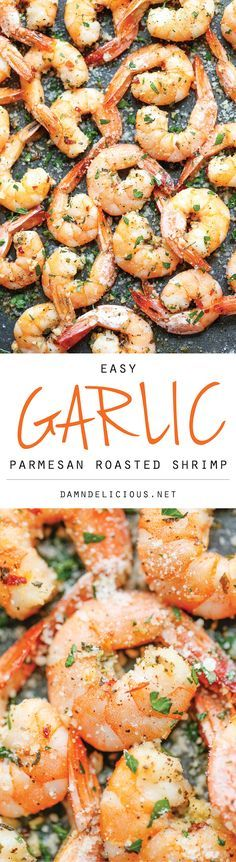 I sautéed them rather than baking them… soooo yummy! And easy! Garlic Parmesan Roasted Shrimp - The easiest roasted shrimp cocktail ever made with just 5 min prep. Yes, it's just that easy!