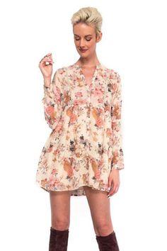 Floral Babydoll Mini Dress #HarperTrends
