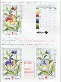 Free Cross Stitch Patterns Three Separate Pattern of Pansies in Three Colors!