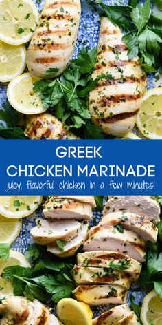 This Greek Chicken Marinade is a simple, fast recipe that results in juicy, succulent chicken every single time! Can be used for any cut of chicken. | foxeslovelemons.com