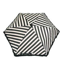 Black & White Diagonal Stripes Umbrella by Lulu Guinness