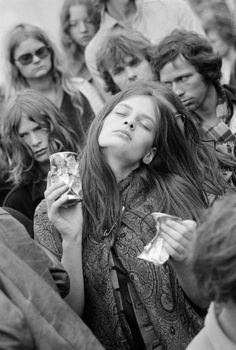 'When words fail… Music Speaks'  - Hans Christian Andersen | Photographer Herbert Behrens | Kralingen Music Festival | The Netherlands, 1970 | Concert | Festival | Feel the Music | movement | inspiration | eyes closed | crowd | concert | hippie | hippy | hippies | Bohemian | Boho | 1970's | moment captured | black & white | expression | dance | dancing | energy | passion |