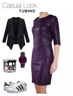 Casual Look Burgundy by tubino-skirts-dresses on Polyvore featuring mode, adidas Originals, Komono and Chanel