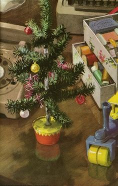 Miniature Christmas tree - Peter & Jane, Look at This